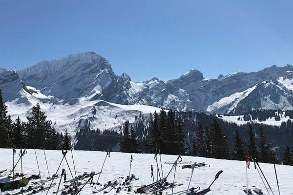 Sortie à ski à Villars 2018